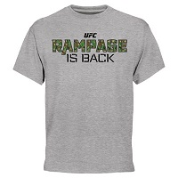 "Men's Quinton ""Rampage"" Jackson Ash UFC Rampage is Back T-Shirt"