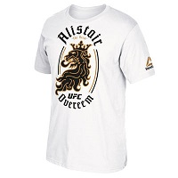 Men's Reebok Alistair Overeem White UFC Lion T-Shirt