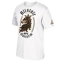 Men's Reebok Alistair Overeem White UFC Lion T-Shirt