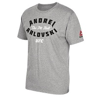 Men's Reebok Andrei Arlovski Heather Gray UFC Pit Bull T-Shirt