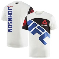 Men's Reebok Anthony Johnson Chalk/Blue UFC Jersey