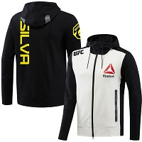 Men's Reebok Antonio Silva Black UFC Walkout Full Zip Hoodie