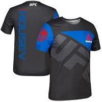 Men's Reebok Black/Blue Ronda Rousey UFC Jersey