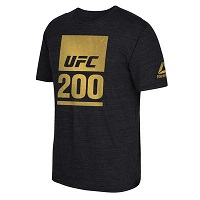 Men's Reebok Black UFC 200 Tri-Blend T-Shirt
