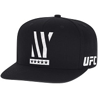 Men's Reebok Black UFC 205 New York City Authentic Snapback Adjustable Hat