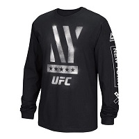 Men's Reebok Black UFC 205 New York Stenciled Long Sleeve T-Shirt