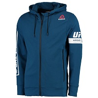 Men's Reebok Blue UFC Speedwick Full-Zip Hoodie