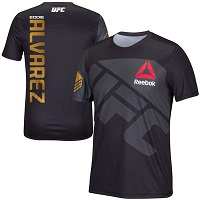Men's Reebok Eddie Alvarez Black UFC Champion Jersey