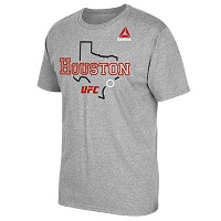 Men's Reebok Gray UFC Houston City T-Shirt