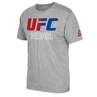 Men's Reebok Heather Gray UFC Seoul T-Shirt