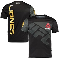 Men's Reebok Jon Jones Black UFC Champion Jersey