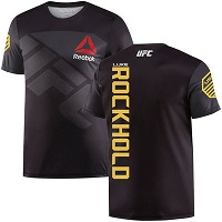 Men's Reebok Luke Rockhold Black UFC Champion Walkout Jersey