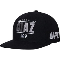 Men's Reebok Nate Diaz Black UFC 202 Flat Brim Snapback Adjustable Hat