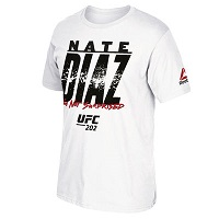 Men's Reebok Nate Diaz White UFC 202 Not Surprised T-Shirt