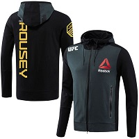 Men's Reebok Ronda Rousey Charcoal UFC Champion Walkout Hoodie