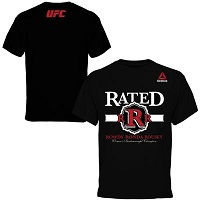 "Men's Reebok ""Rowdy"" Ronda Rousey Black UFC 184 Weigh-In T-Shirt"