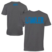 Men's Robbie Lawler Charcoal UFC 189 Fighter Lettering T-Shirt
