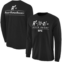Men's Ronda Rousey Black UFC 184 Never Doubt Champion Long Sleeve T-Shirt