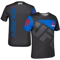 Men's Ronda Rousey UFC Reebok Black/Blue Jersey
