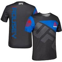 Men's Ronda Rousey UFC Reebok Black/Blue Jersey