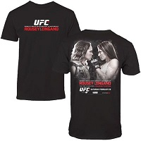 Men's Ronda Rousey vs. Cat Zingano Black UFC 184 Event T-Shirt