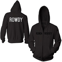 Men's 'Rowdy' Ronda Rousey Black UFC 184 Walkout Full Zip Hoodie