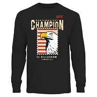 Men's TJ Dillashaw Black UFC Fight Night Bantamweight Champion Long Sleeve T-Shirt