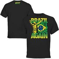 Mens UFC Anderson Silva Black Brazil Will Rise T-Shirt