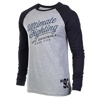 Men's UFC Black/Gray Baseball Raglan