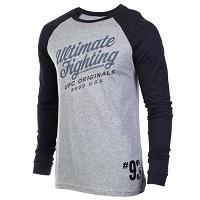 Men's UFC Black/Gray Baseball Raglan