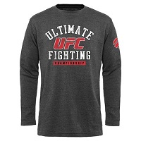 Mens UFC Gray Trained 2 Fight Long Sleeve Thermal T-Shirt