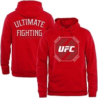 Mens UFC Red Fundamental Hoodie