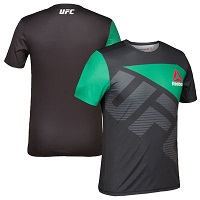 Men's UFC Reebok Black/Green Jersey