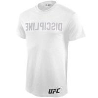 Mens UFC White Reverse Print T-Shirt