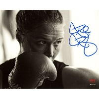 "Ronda Rousey Ultimate Fighting Championship Autographed 8"" x 10"" Black & White Training Photograph"