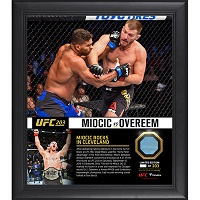 "Stipe Miocic Ultimate Fighting Championship Framed 15"" x 17"" UFC 203 And Still Heavyweight Champion Collage with a Piece of Canvas From UFC 203"