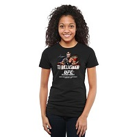 T.J. Dillashaw Womens UFC 177 Slim Fit T-Shirt - Black