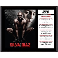 "UFC 183 Anderson Silva vs. Nick Diaz 12"" x 15"" Sublimated Plaque"