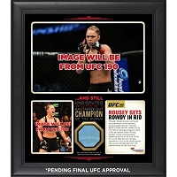 Ronda Rousey Ultimate Fighting Championship Framed 15'' x 17'' UFC 190 And Still Women's Bantamweight Champion Collage with a Piece of Canvas From UFC 190