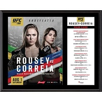 UFC 190 Ronda Rousey vs. Bethe Correia 12'' x 15'' Sublimated Plaque