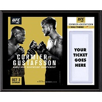 "UFC 192 Daniel Cormier vs. Alexander Gustafsson Dueling ""I Was There"" 12"" x 15"" Sublimated Plaque"