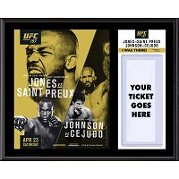 "UFC 197 Jon Jones vs. Ovince Saint Preux Dueling ""I Was There"" 12"" x 15"" Sublimated Plaque"