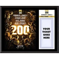 "UFC 200 Daniel Cormier vs. Jon Jones II Dueling ""I Was There"" 12"" x 15"" Sublimated Plaque"