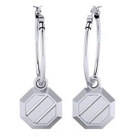 UFC Pewter Octagon Earrings