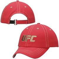UFC Antigua Meridian Adjustable Hat - Red/Khaki
