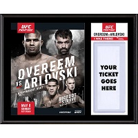 """UFC Fight Alistair Overeem vs. Andrei Arlovski Dueling """"I Was There"""" 12"""" x 15"""" Sublimated Plaque"""