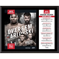 "UFC Fight Night Alistair Overeem vs. Andrei Arlovski 12"" x 15"" Sublimated Plaque"