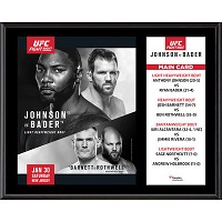 "UFC Fight Night Anthony Johnson vs. Ryan Bader 12"" x 15"" Sublimated Plaque"