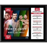 "UFC Fight Night Dustin Poirier vs. Joseph Duffy 12"" x 15"" Sublimated Plaque"