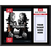 "UFC Fight Night Holly Holm vs. Valentina Shevchenko Dueling ""I Was There"" 12"" x 15"" Sublimated Plaque"